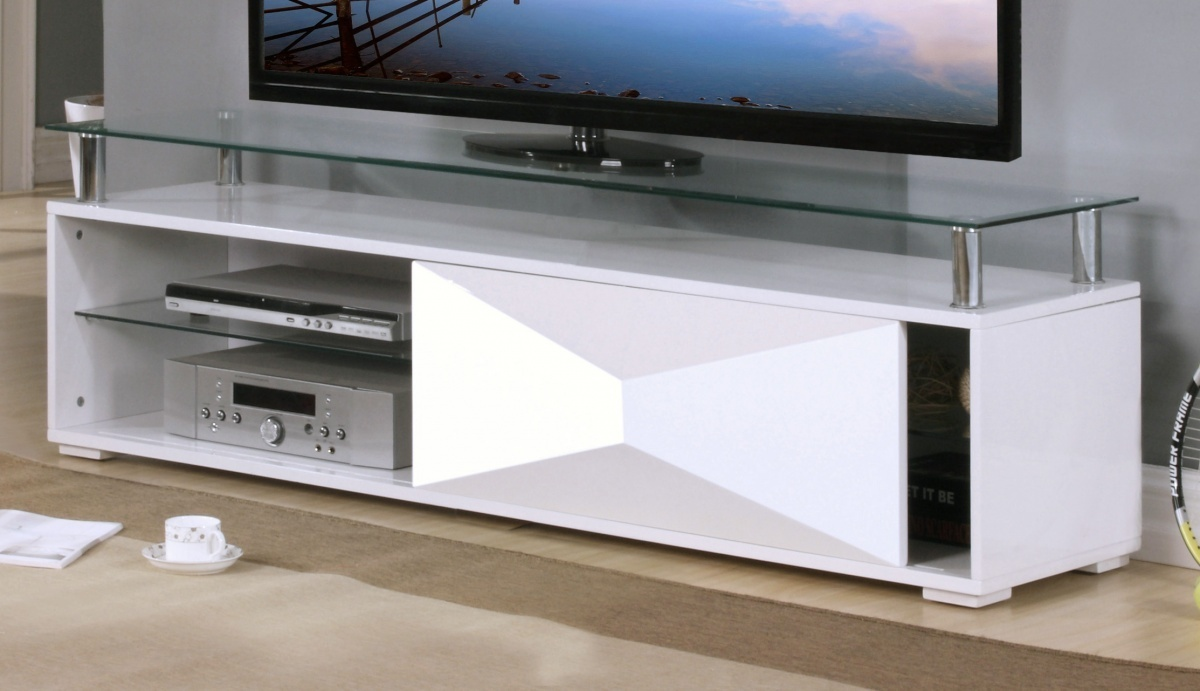 white high gloss television unit with glass top  homegenies - white high gloss television unit with glass top