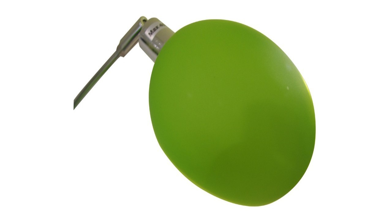 green shades 5 arm chrome floor lamp