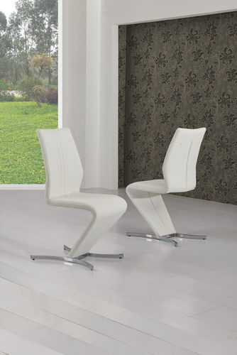 White Z Dining Chairs