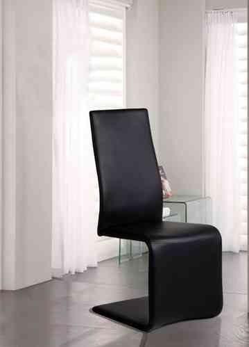 Shaped Black Dining Chairs