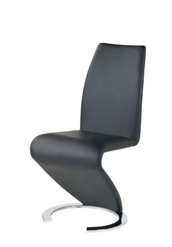New Design Black Z Chairs Faux Leather - Homegenies