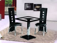 Glass Dining Table and 2 Chairs Sets