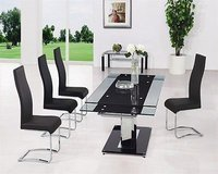 Glass Dining Table and 10 Chairs