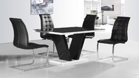 Black High Gloss Dining Sets