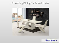 Extending dining table and chairs sets