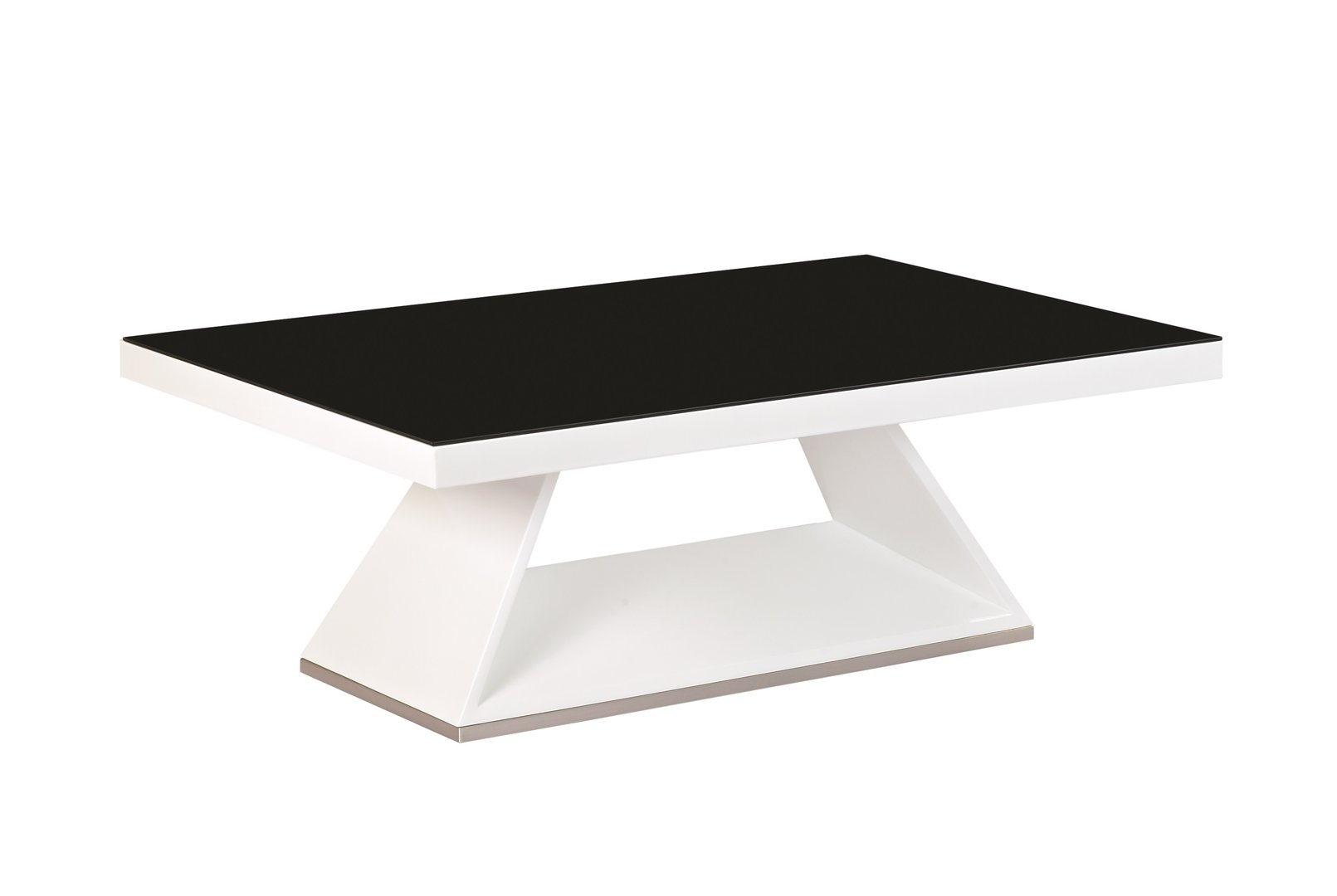 White high gloss black glass coffee table homegenies white high gloss black glass coffee table geotapseo Images