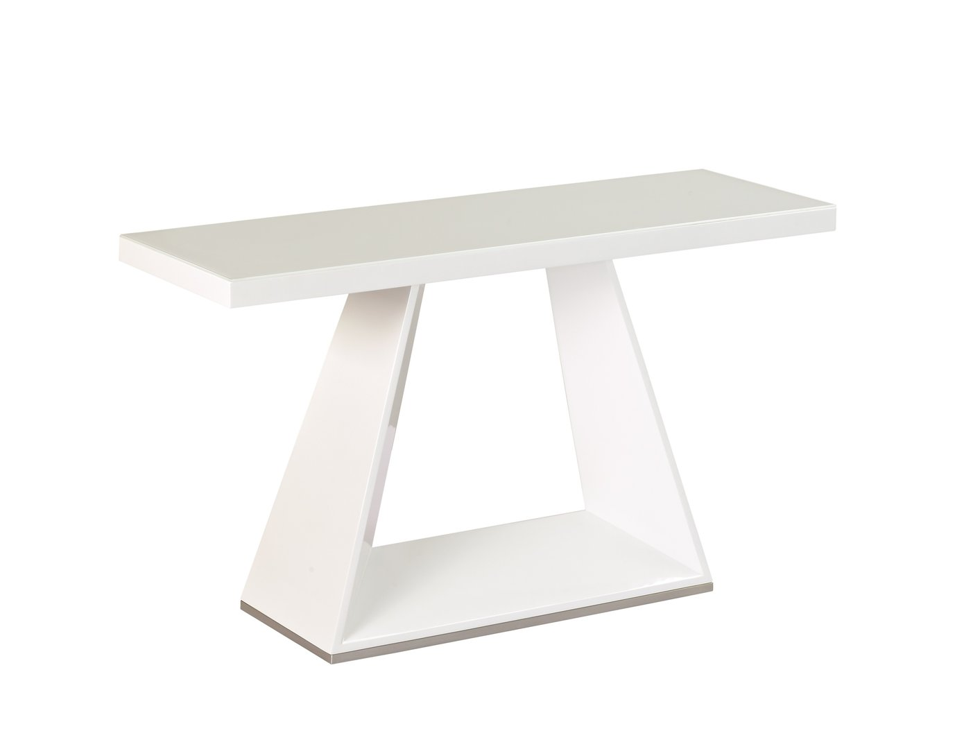 White high gloss white glass console table homegenies for White and glass console table