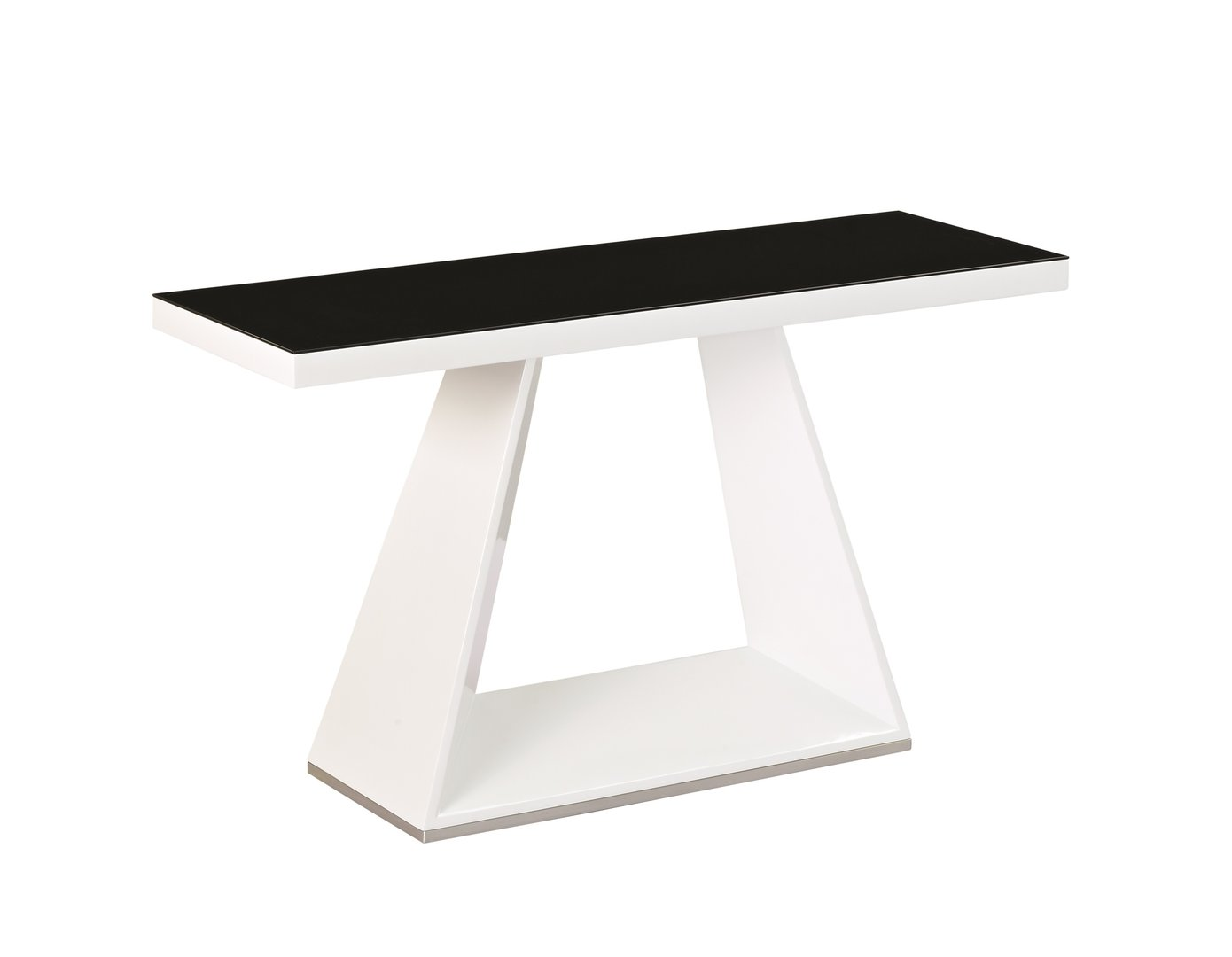 White high gloss black glass console table homegenies for White and glass console table