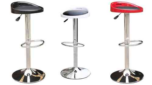 Bars Stools in Black, Red, White