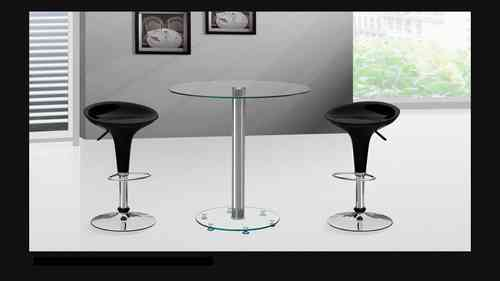 Clear Glass Bar Table and Stools