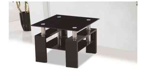 Black Glass High Gloss Side lamp Table