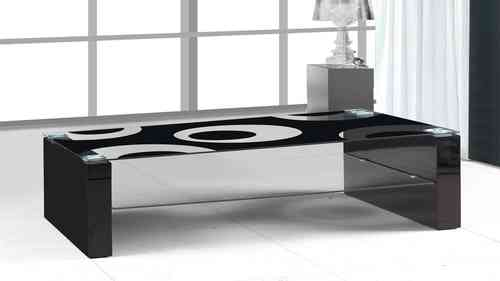 Black Glass Black High Gloss Coffee Table