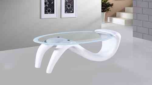White High Gloss Glass Coffee Table