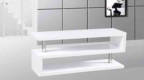 Tv Stand unit in White High Gloss