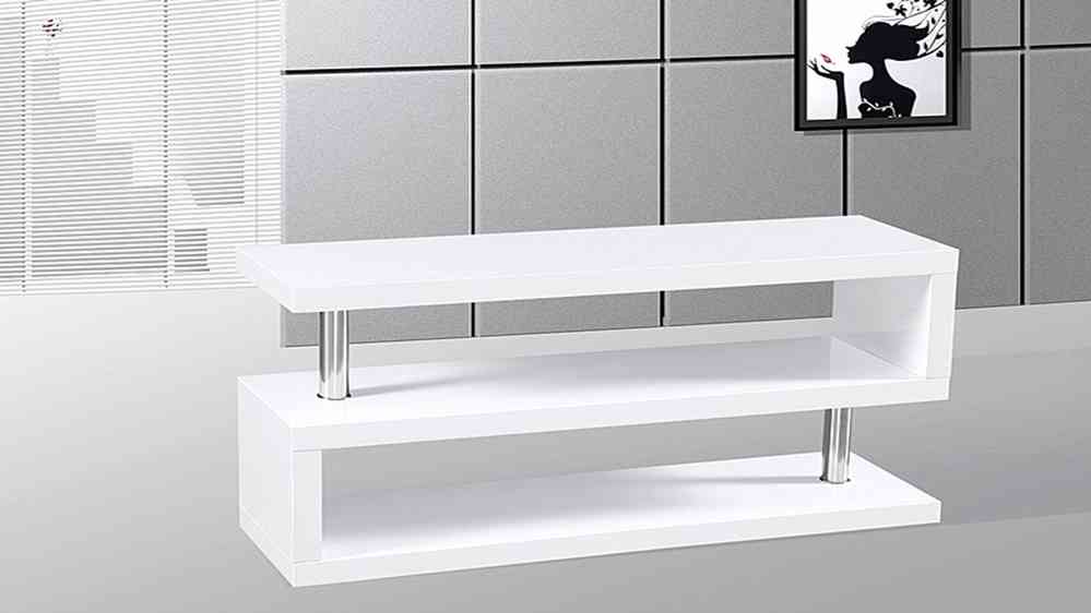 Nice White High Gloss Tv Unit Part - 9: Tv Stand Unit In White High Gloss