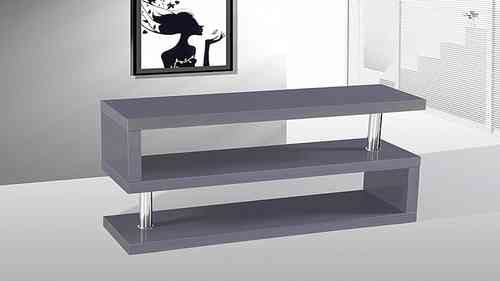 Tv Stand unit in Grey High Gloss