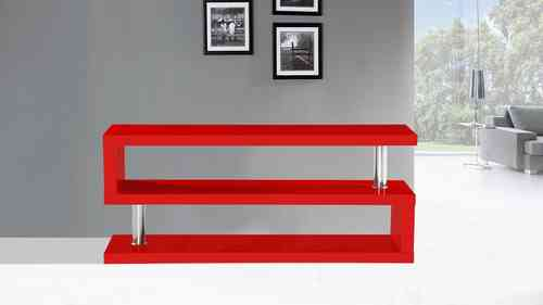 Tv Stand unit in Red High Gloss