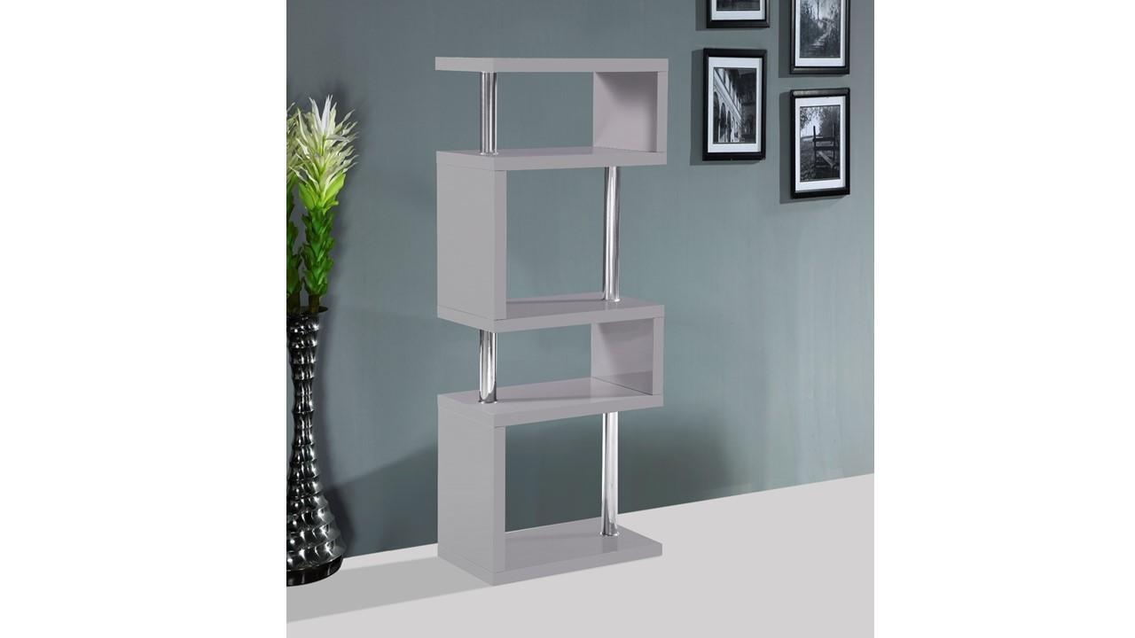 Shelf Stand 5 Tier High Gloss White Black Red Grey