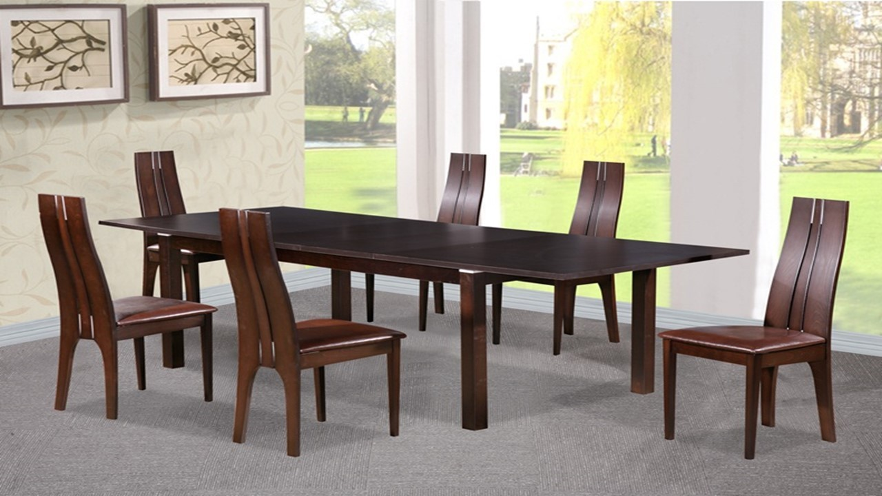 beech wood dining table dining table and 6 chairs in beechwood walnut 4404