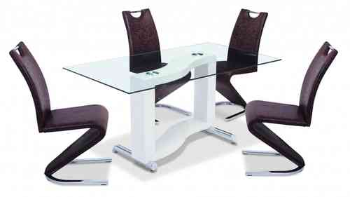 White High Gloss Dining Table and 6 Chairs
