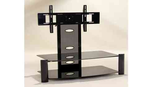 Black Glass TV unit Adjustable