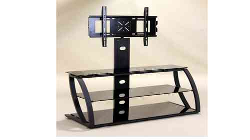 Black glass tv unit with Frame