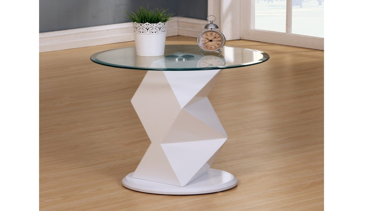 White High Gloss Glass Coffee Side Console Table