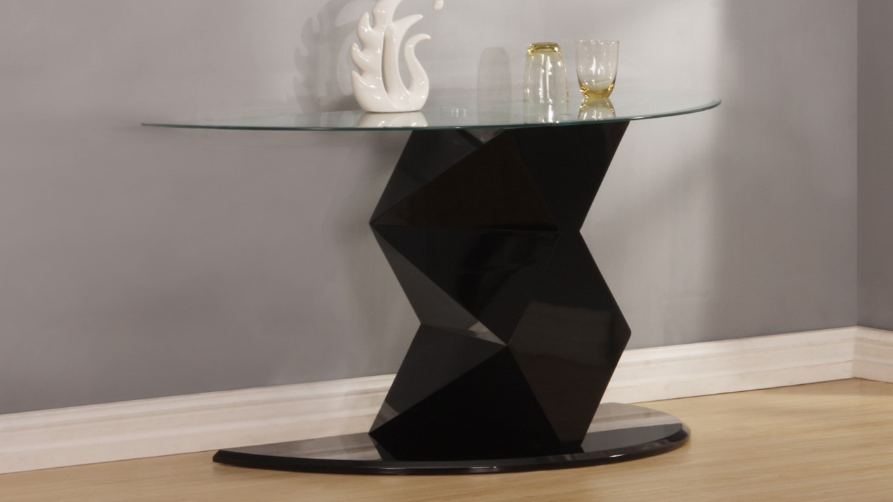 Black high gloss glass side lamp table homegenies black high gloss glass side lamp table mozeypictures Images