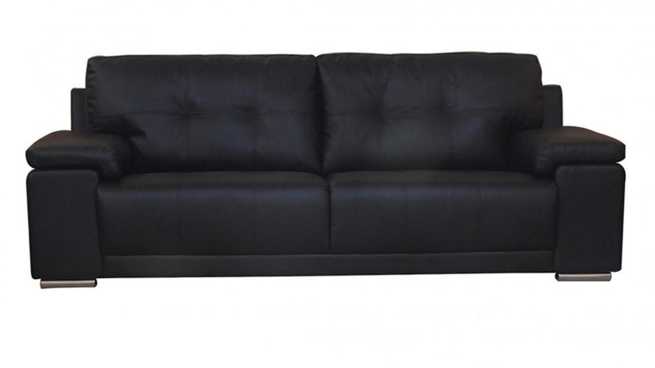 Black Brown 3,2,1 Seater Leather Sofa Set
