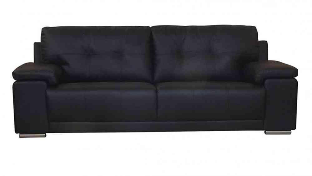 Bon Black Brown 3,2,1 Seater Leather Sofa Set