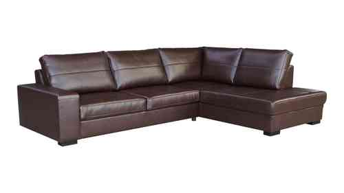Leather Corner Sofa in Brown or Black