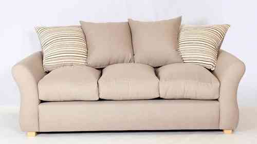 Beige Fabric Sofa Set