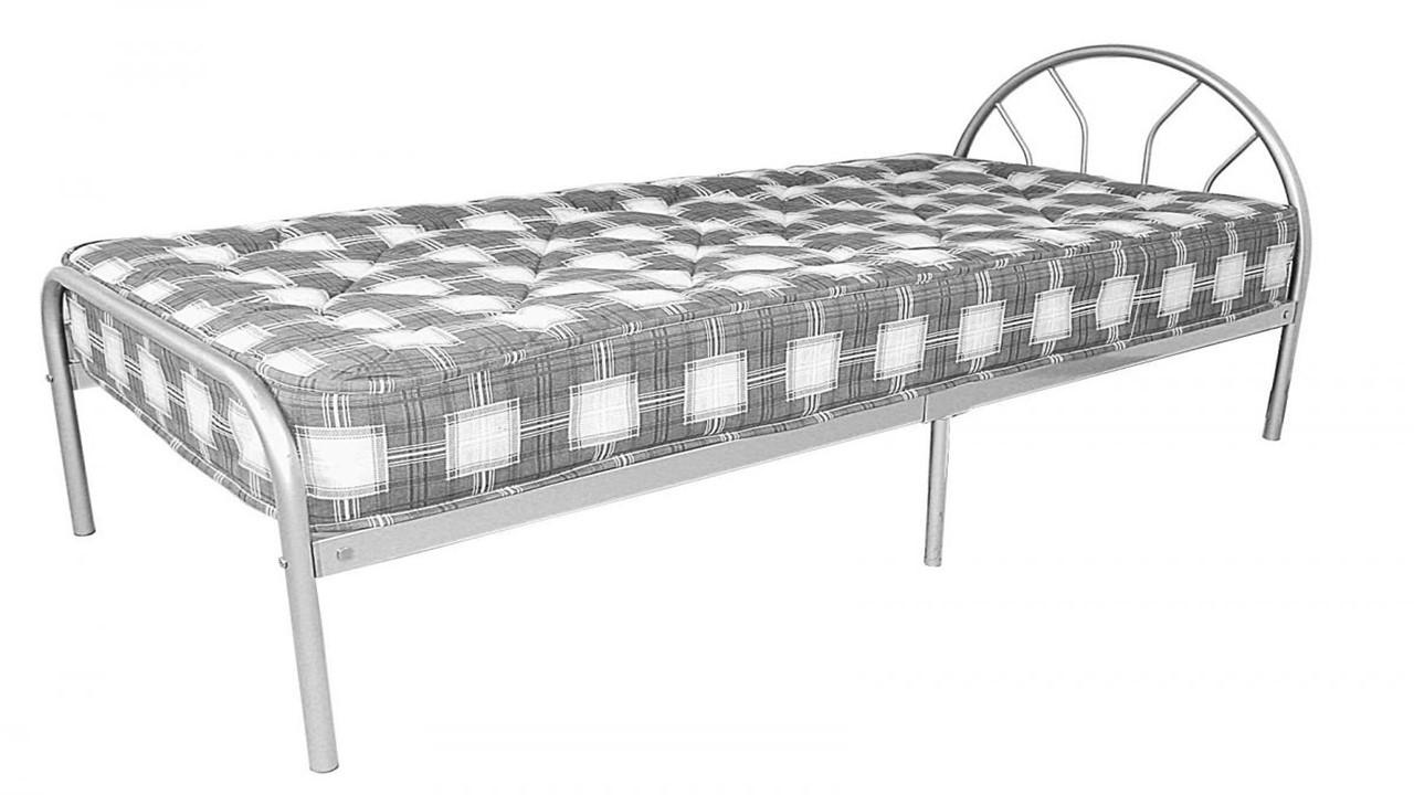 single metal beds homegenies. Black Bedroom Furniture Sets. Home Design Ideas