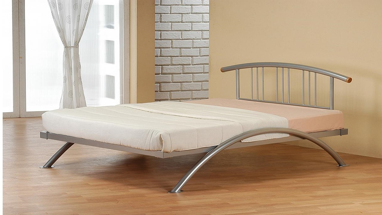 curved metal bed frame