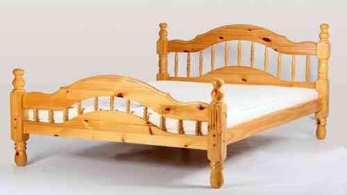 Pine Bed single double kingsize