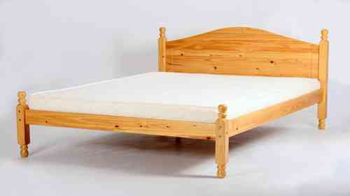 Single, Double Pine Bed