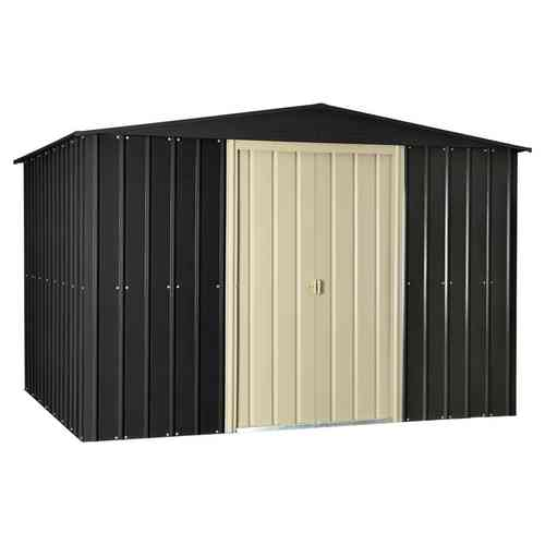 Metal Garden Shed 10 x 8ft in Slate Grey and Cream