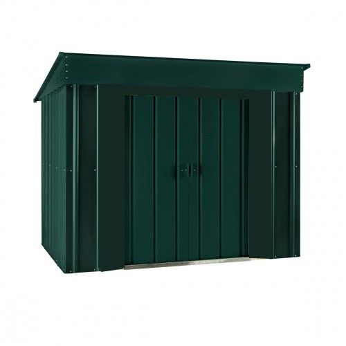 Heritage Green 6x4 low pent metal shed