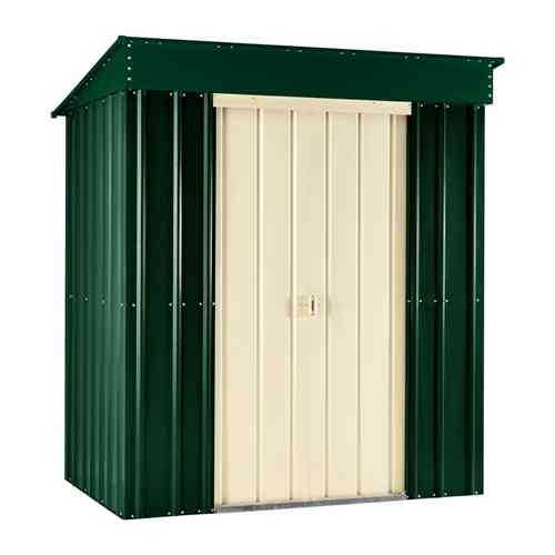Metal Pent Garden Shed 8 x 3ft