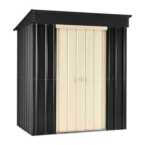 Metal Pent Roof Garden Shed 8 x 3 foot