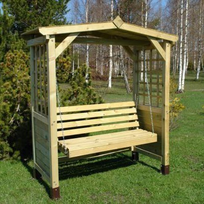 Wooden Garden Swing Bench Arbour