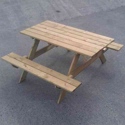 wooden garden picnic table