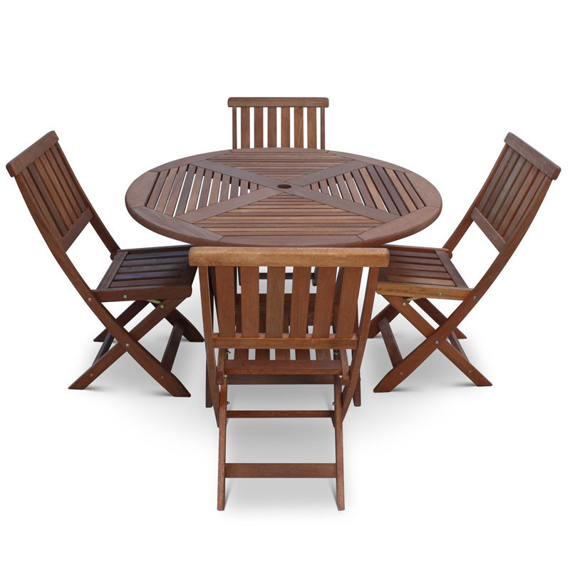Round Wooden Table And Chairs Garden, Wooden Table Chairs For Garden