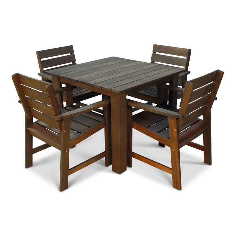 Garden Table And Chairs Set Wood: Wooden Garden Set