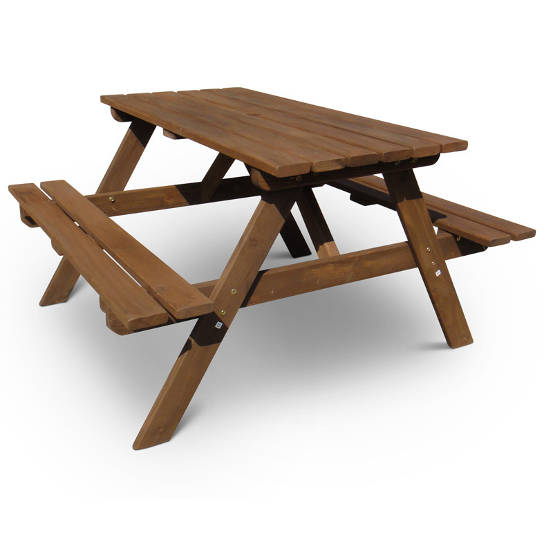 6 seater garden picnic bench homegenies for 12 seater wooden outdoor table
