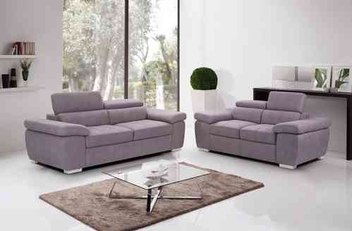 Beige Fabric 2 and 3 Seater Sofa Set