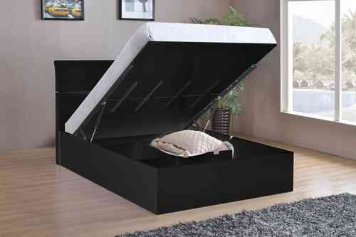 Black High Gloss Double Bed