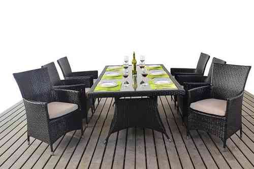 Prestige Rattan Table and 6 Chairs