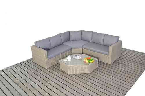 Rural Angle Rattan Corner Sofa set