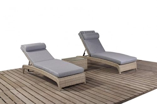 Rural Rattan Loungers and side table set